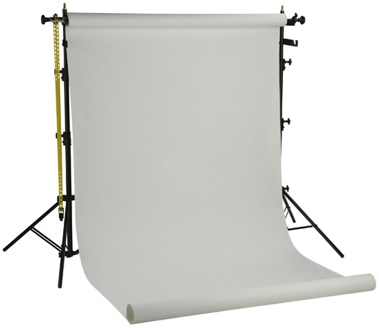 Falcon Eyes Background System SPK-1W with 1 Roll White 1.35x11 m