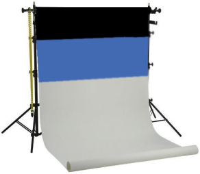 Falcon Eyes Background System SPK-3 with 3 Rolls Black/White/Blue 1.35x11 m