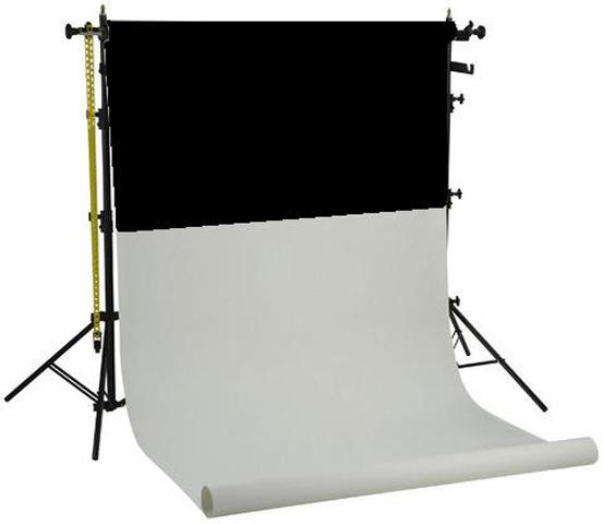 Linkstar Hintergrundsystem BSK-2P + 2 Papier Hintergründen