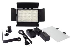 Falcon Eyes Bi-Color LED Lampe Set Dimmbar DV-384CT-K2 inkl. Akku