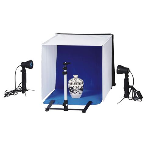 Falcon Eyes Faltbarer Aufnahmebox PBK-40AB-2LS 40x40 cm + 2 Lampen