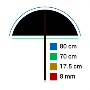 Falcon Eyes Umbrella UR-32SL Sunlight/Black 80 cm