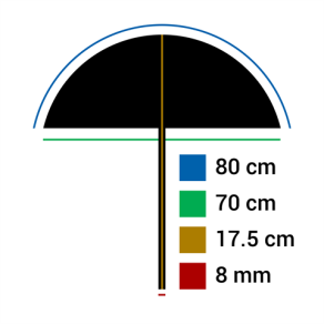 Falcon Eyes Reflexschirm UR-32WB Weiß/Schwarz 80 cm
