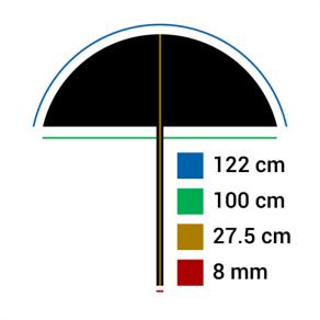 Falcon Eyes Umbrella UR-48G Gold/White 122 cm