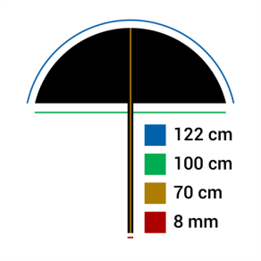 Falcon Eyes Reflexschirm URN-48TSB1 Diffuß Weiß + Silber/Schwarze Hülle 122 cm