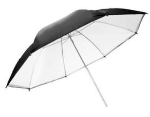 Falcon Eyes Jumbo Umbrella URN-T86TSB1 Transparent White + Silver/Black Cover 216 cm