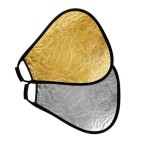 StudioKing Reflektor mit Griff Gold/Silver CRGGS60 60 cm