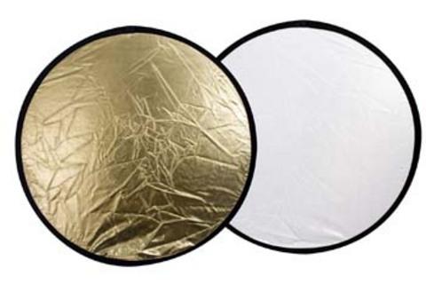 Linkstar Reflektor 2 in 1 R-30GS Gold/Silber 30 cm