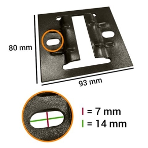 Linkstar Track Mounting Plate 4 Pcs. for Ceiling Rail System
