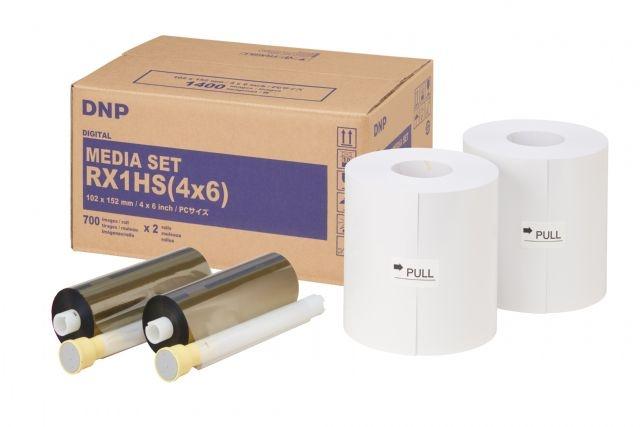 DNP Paper DSRX1HS-4X6HS 2 Rolls à 700 prints. 10x15 for DS-RX1HS