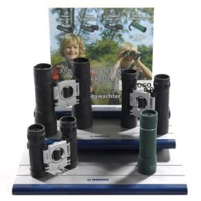 Konus Display with Top Card including binoculars