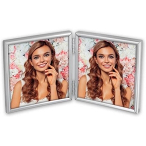 Zep Photo Frame 120DS01-44 Silver 2x 10x10 cm