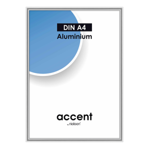 Nielsen Photo Frame 52123 Accent Glossy Silver 21x29.7 cm