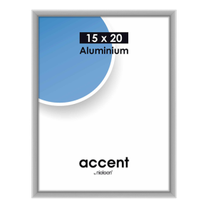 Nielsen Photo Frame 51324 Accent Frosted Silver 15x20 cm