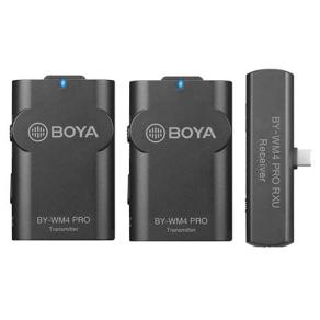 Boya 2.4 GHz Dual Lavalier Microphone Wireless BY-WM4...