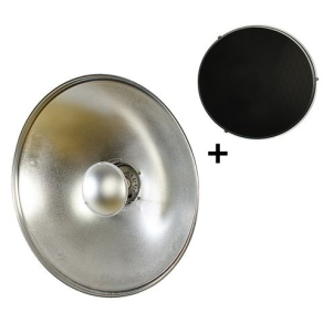 StudioKing Beauty Dish Silver SK-BD550 55 cm with...
