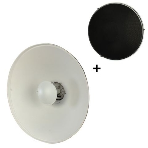 StudioKing Beauty Dish White SK-BD550W 55 cm with...