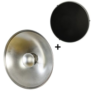 StudioKing Beauty Dish Silver SK-BD700 70 cm with...