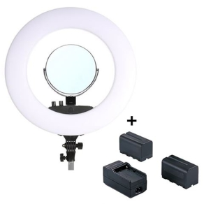 StudioKing LED Ring Lamp Set 48W LR-480 with Batteries
