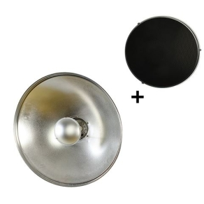 StudioKing Beauty Dish Silber SK-BD420 42 cm mit Waben