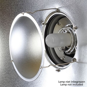 StudioKing Beauty Dish Silver SK-BD420 42 cm with Honeycomb Grid