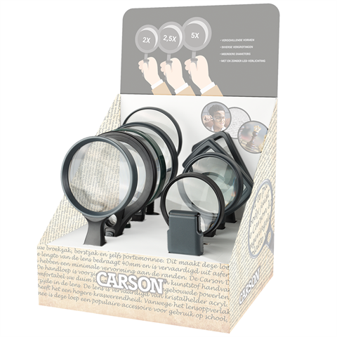 Carson Stock Set for Display with 2x 10 Magnifiers