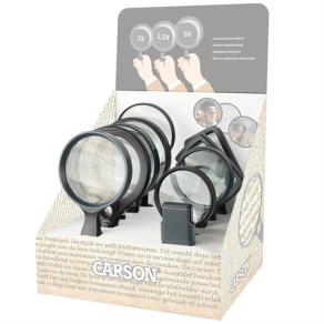Carson Lager-Set für Display mit 2x 10 Lupen